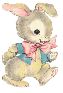 vintage easter bunny clipart.
