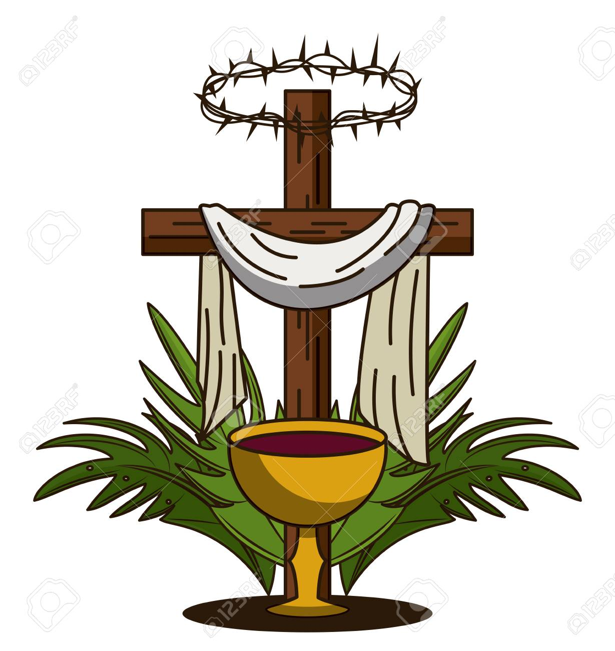 Holy week catholic tradition icon vector illustration graphic...