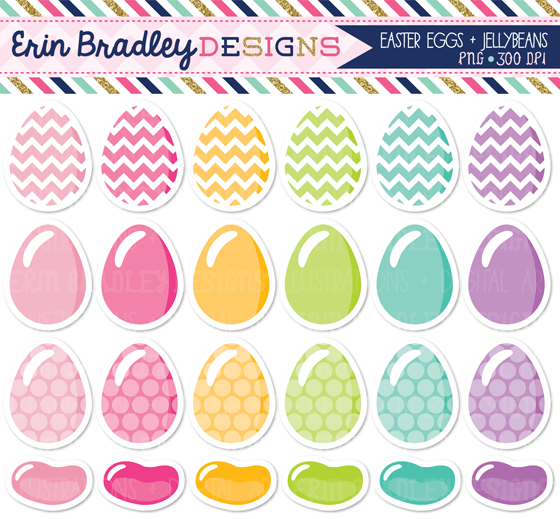 Erin Bradley Designs: Easter Eggs & Jelly Beans and Arrow Clipart.