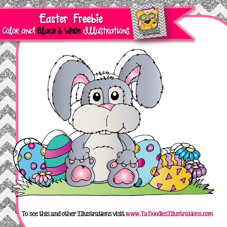 Easter bunny rabbit and Easter egg clipart. High resolution images.