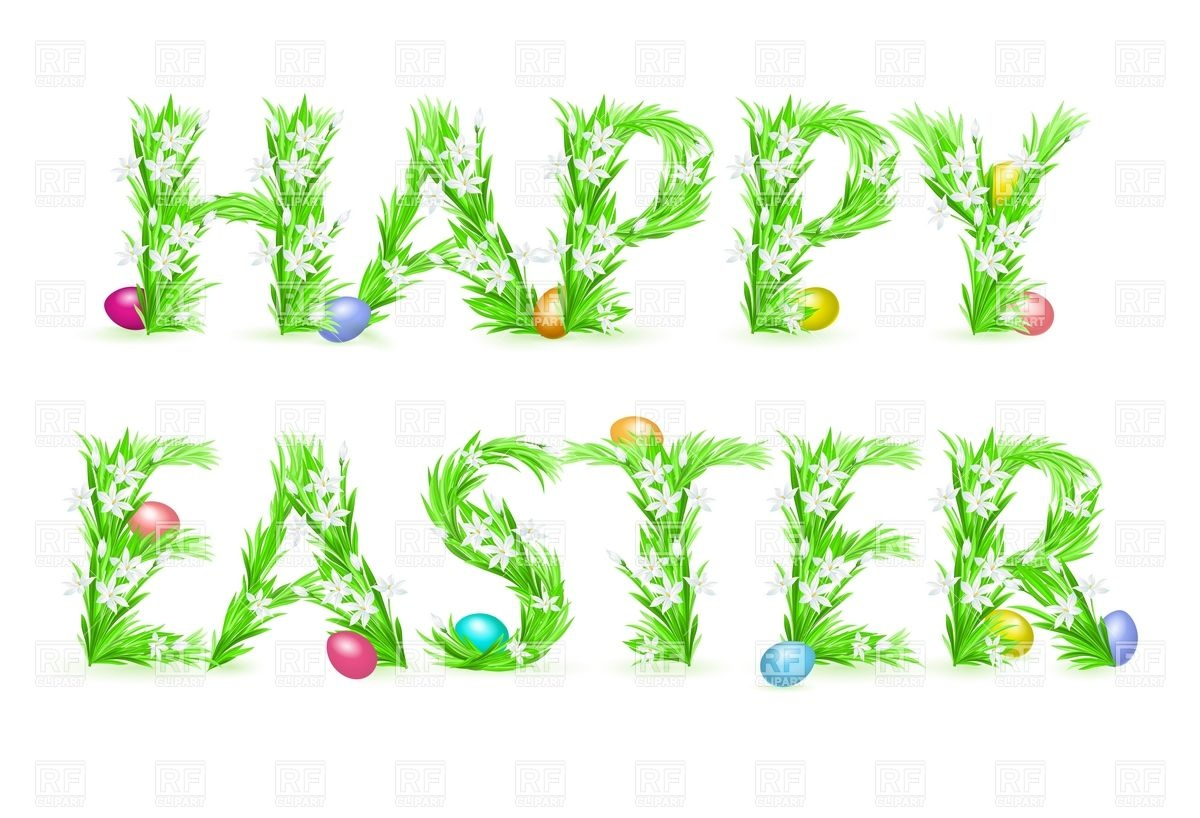Easter greeting clip art.