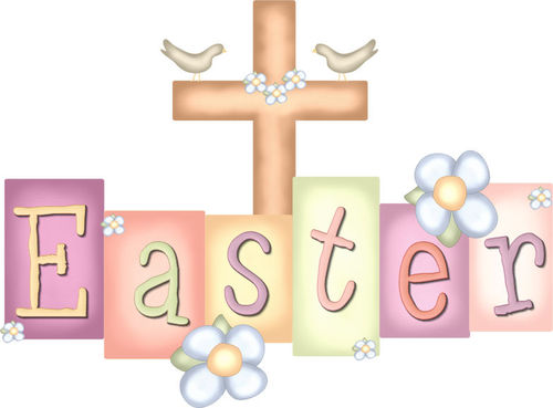 Happy easter cross clipart.