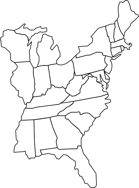 Eastern U.s. Map Clip Art at Clker.com.
