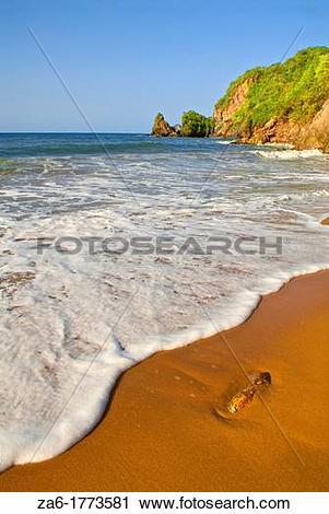 Stock Photography of Playa de Uva, tropical beach in Paria.