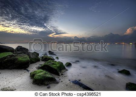 Stock Photography of Sunrise at East Coast Beach 2.