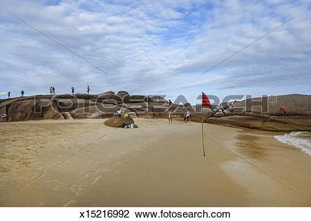 Stock Photo of Praia do Mole, beach along the east coast x15216992.