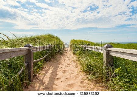 Path To Beach Stock Photos, Royalty.
