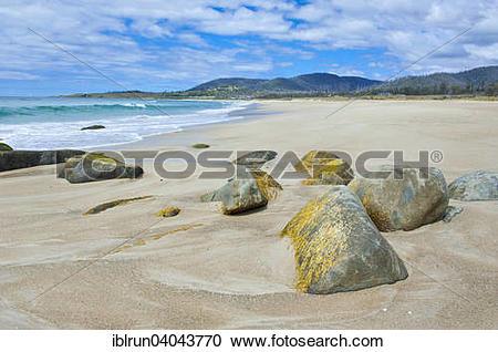 Stock Photography of Beach on the east coast, Tasmania.
