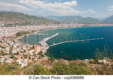 Stock Image of East coast beach resort of Turkey Alanya.
