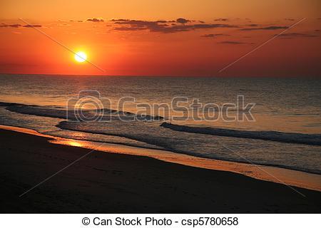 Pictures of East coast beach sunrise. csp5780658.