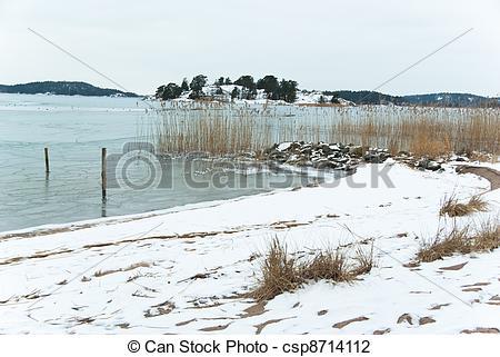 Stock Photo of Beach in winter.
