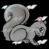A Beka Book :: Clip Art :: Gray Squirrel—crouching.
