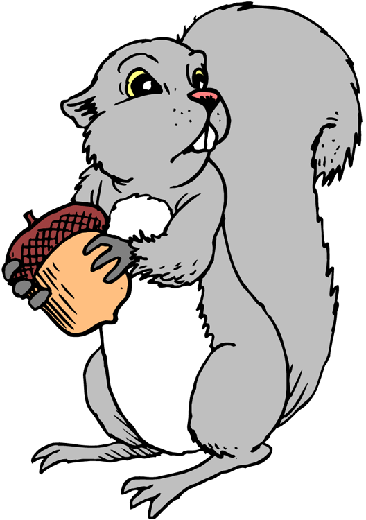 Gray Squirrel Clipart.