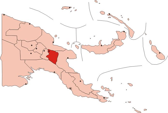 Papua New Guinea Eastern Highlands Province • Mapsof.net.