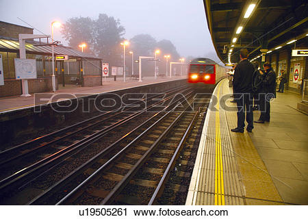 Stock Photography of England, London, Putney. A District Line.