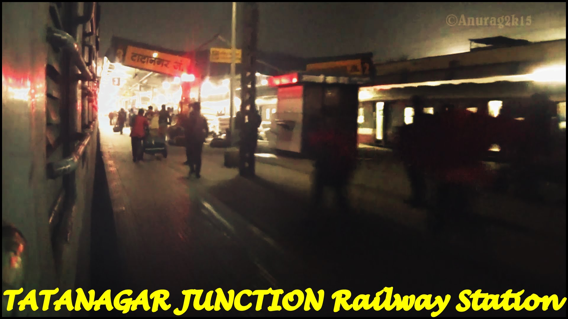 Indian Railways..Late night departure from TATANAGAR JUNCTION.