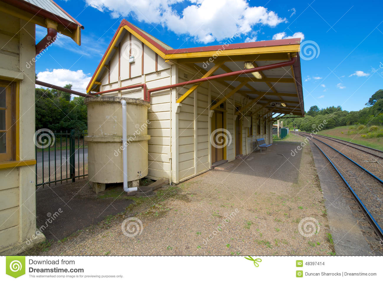 Platform Looking East, Robertson Railway Station, New South Wales.