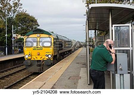 Pictures of Freightliner train driver calling signal box from.