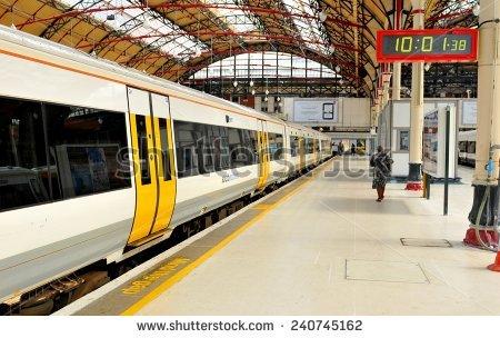 Rail Station Stock Photos, Royalty.