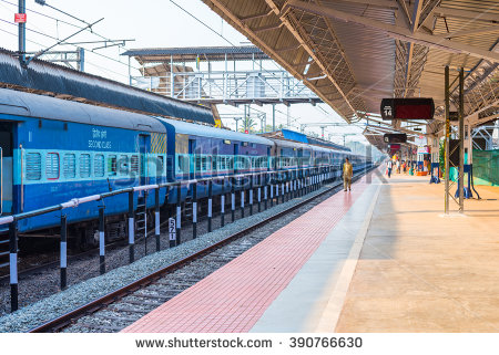 Indian Railway Station Stock Photos, Royalty.