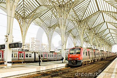 Railway Station, Lisbon Editorial Stock Image.