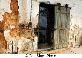 Stock Images of Outer Walls of Historic Eastern State Penitentiary.