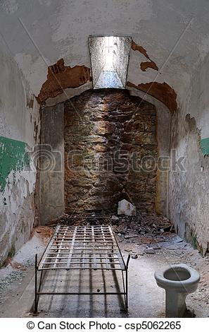 Stock Images of Eastern State Penitentiary Prisoner Cell.