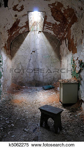 Stock Image of Eastern State Penitentiary Prison Cell k5062275.