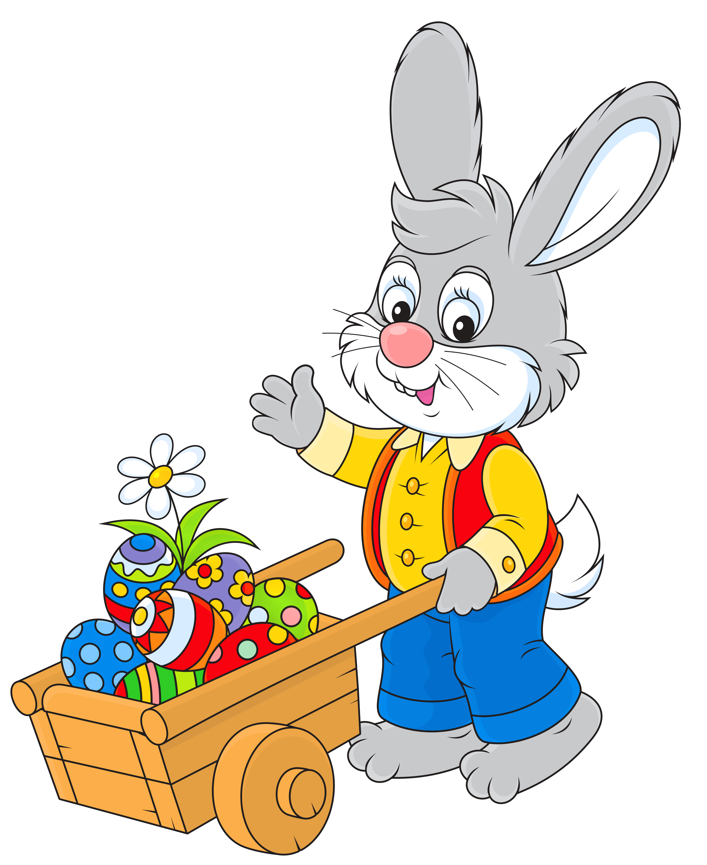 Free cartoon easter bunny clip art.