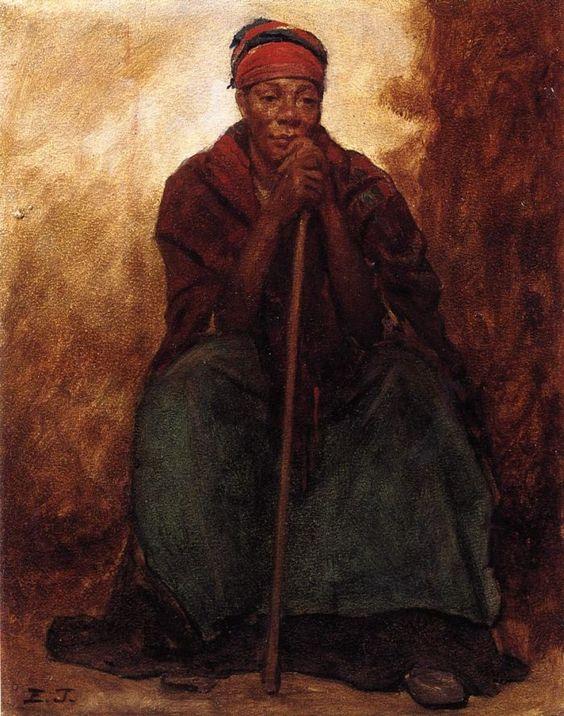 Dinah, Portrait of a Negress ( Eastman Johnson // circa 1866.