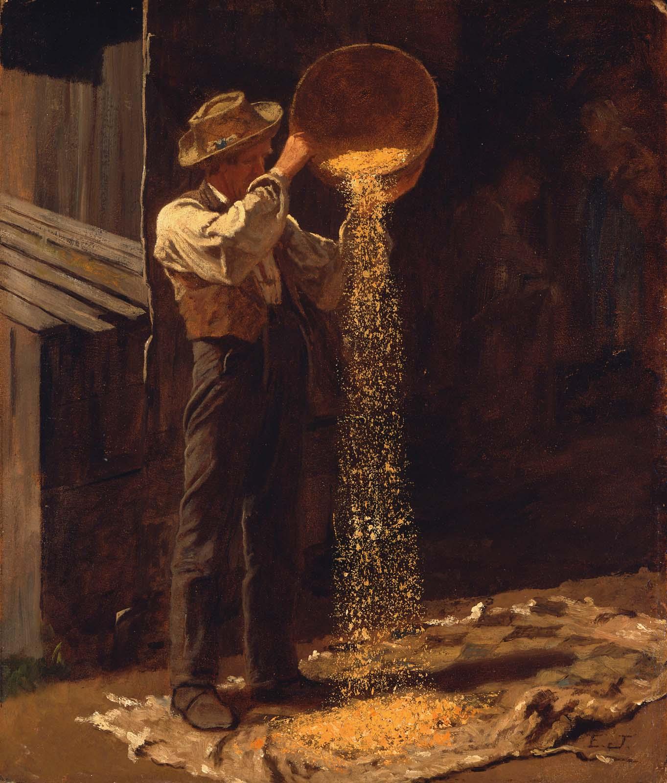 Winnowing Grain.