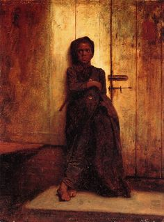 The Reprimand by Eastman Johnson.