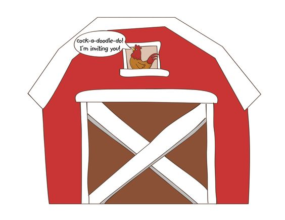 farm birthday clipart barn.