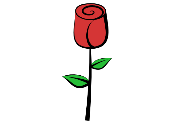 easy Simple rose clipart free download on png.