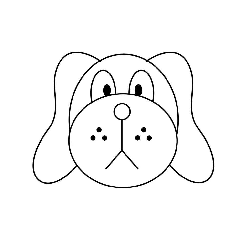 Easy To Draw Dog How To Draw A Dog Face Easy Clipart Best » Clipart.