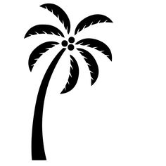 Easy cut out palm tree clipart.