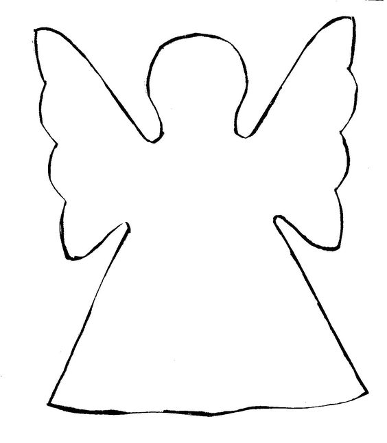 Easy Cut Out Paper Angels.