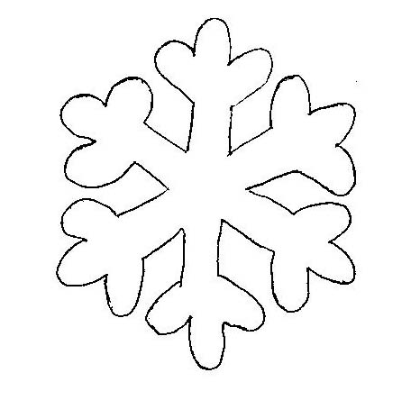 Easy snowflake clipart.