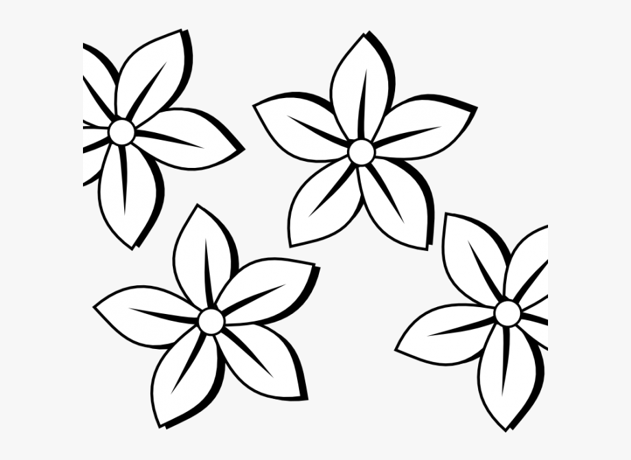 Flower Clipart Coloring Page.