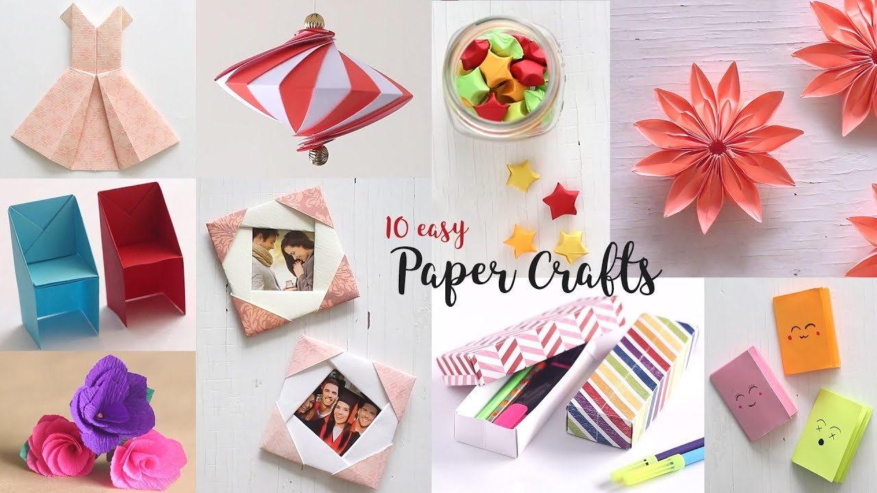 10 Easy Paper Crafts Compilation.