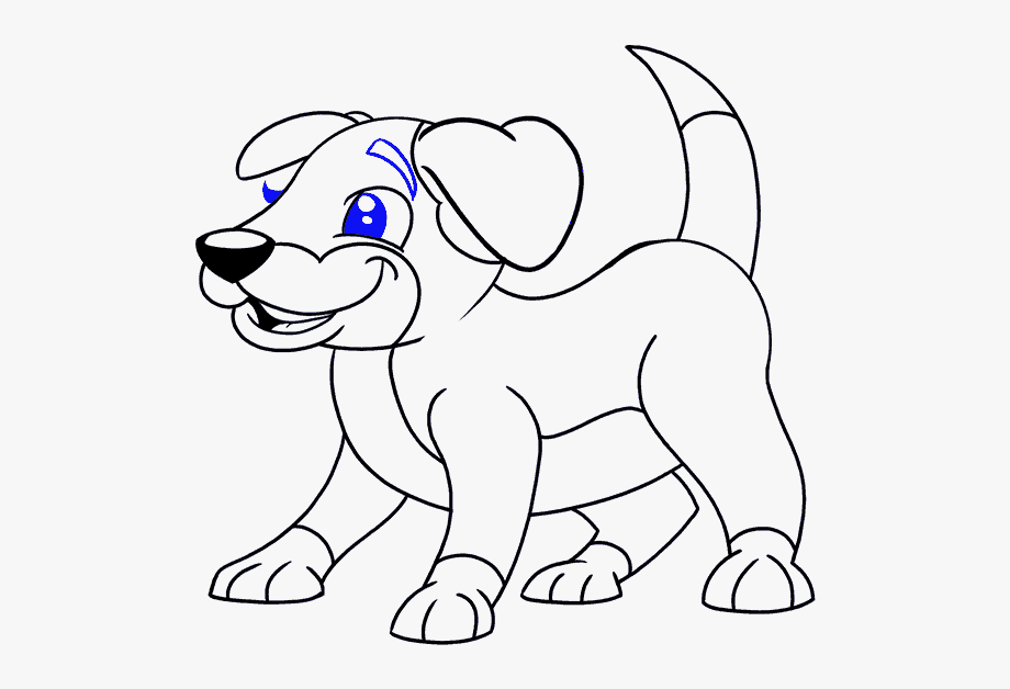 How To Draw Cartoon Dog.