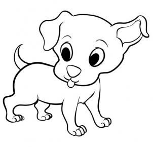How To Draw A Puppy Clipart.