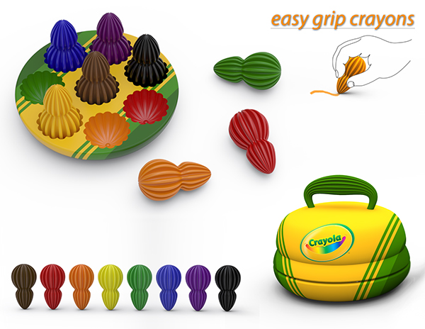 Easy Grip Crayons on Behance.