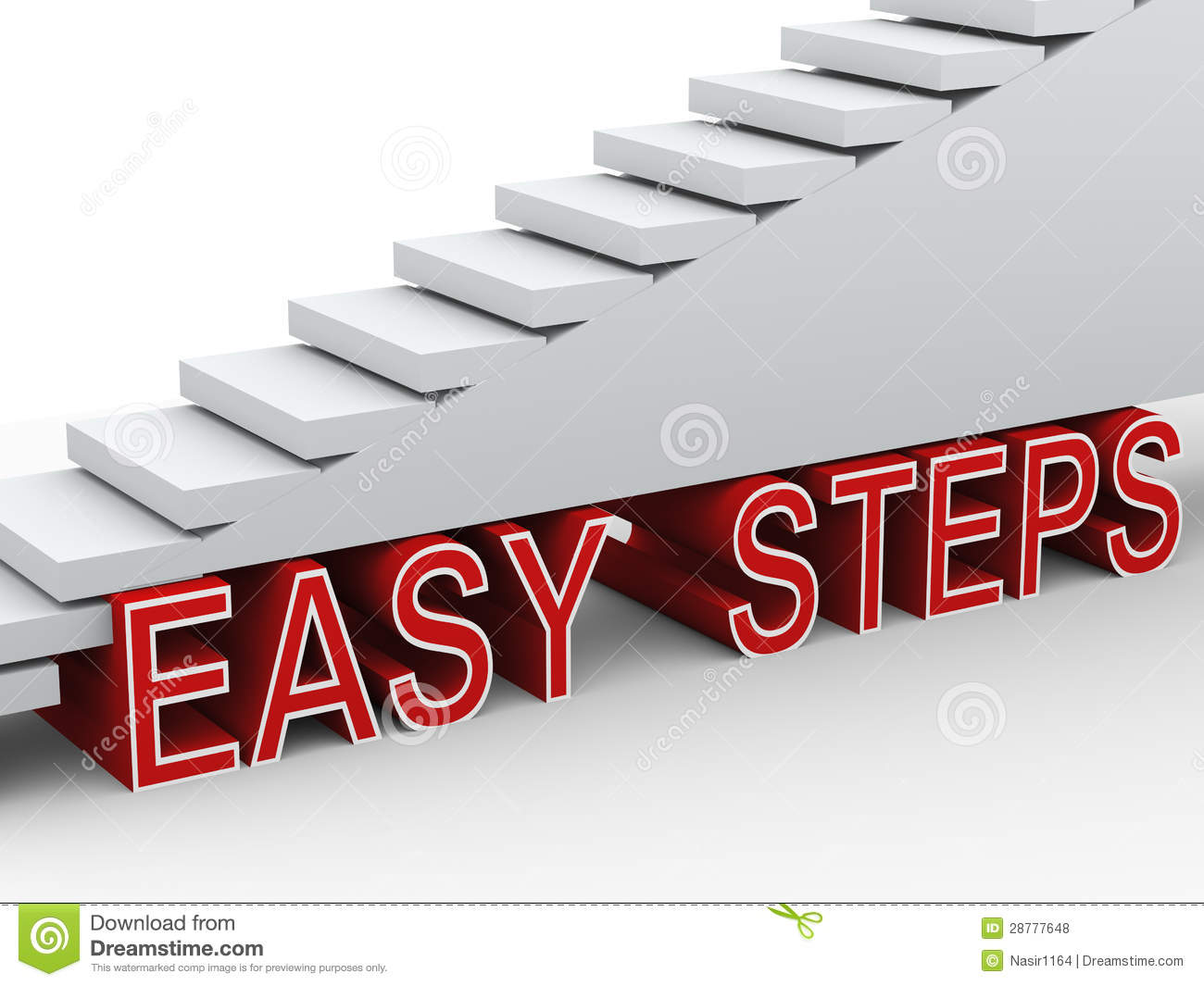Easy Steps Clipart.