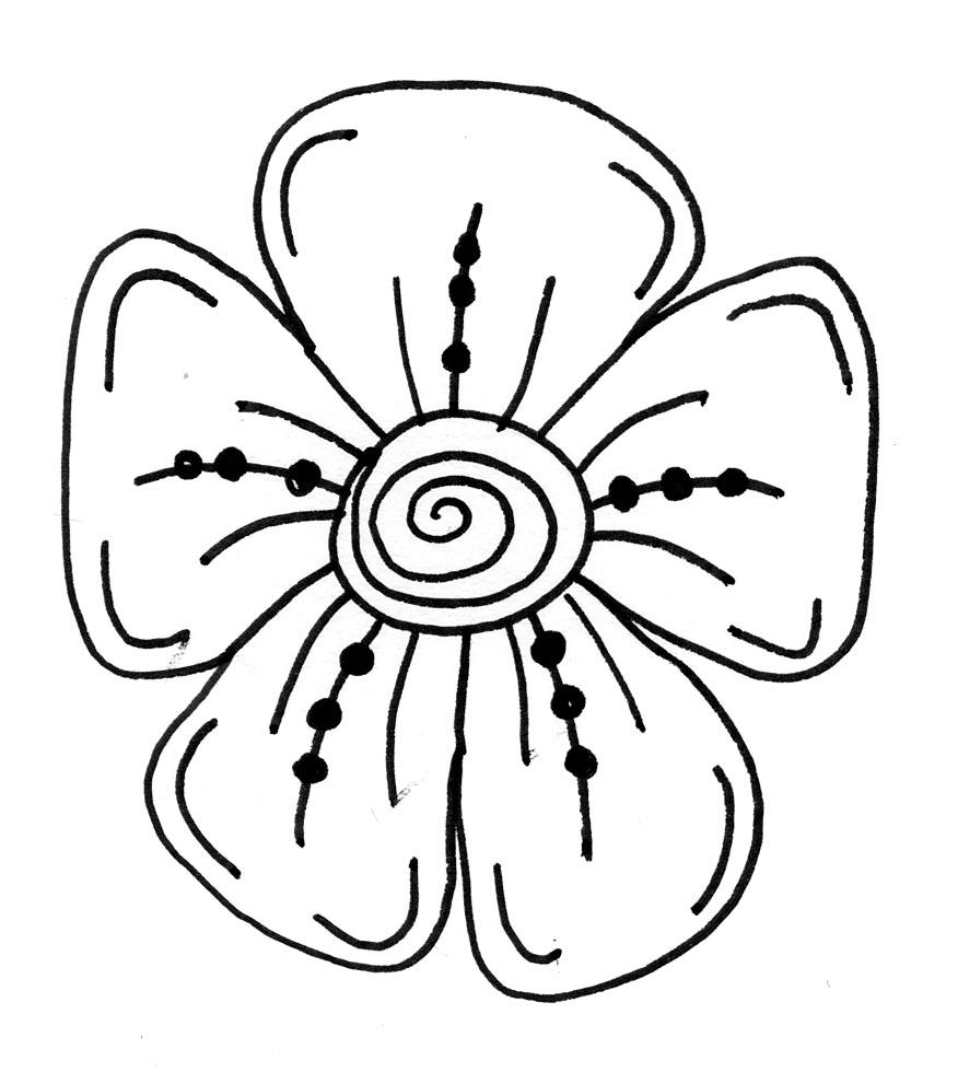Easy Drawings Of Flowers.