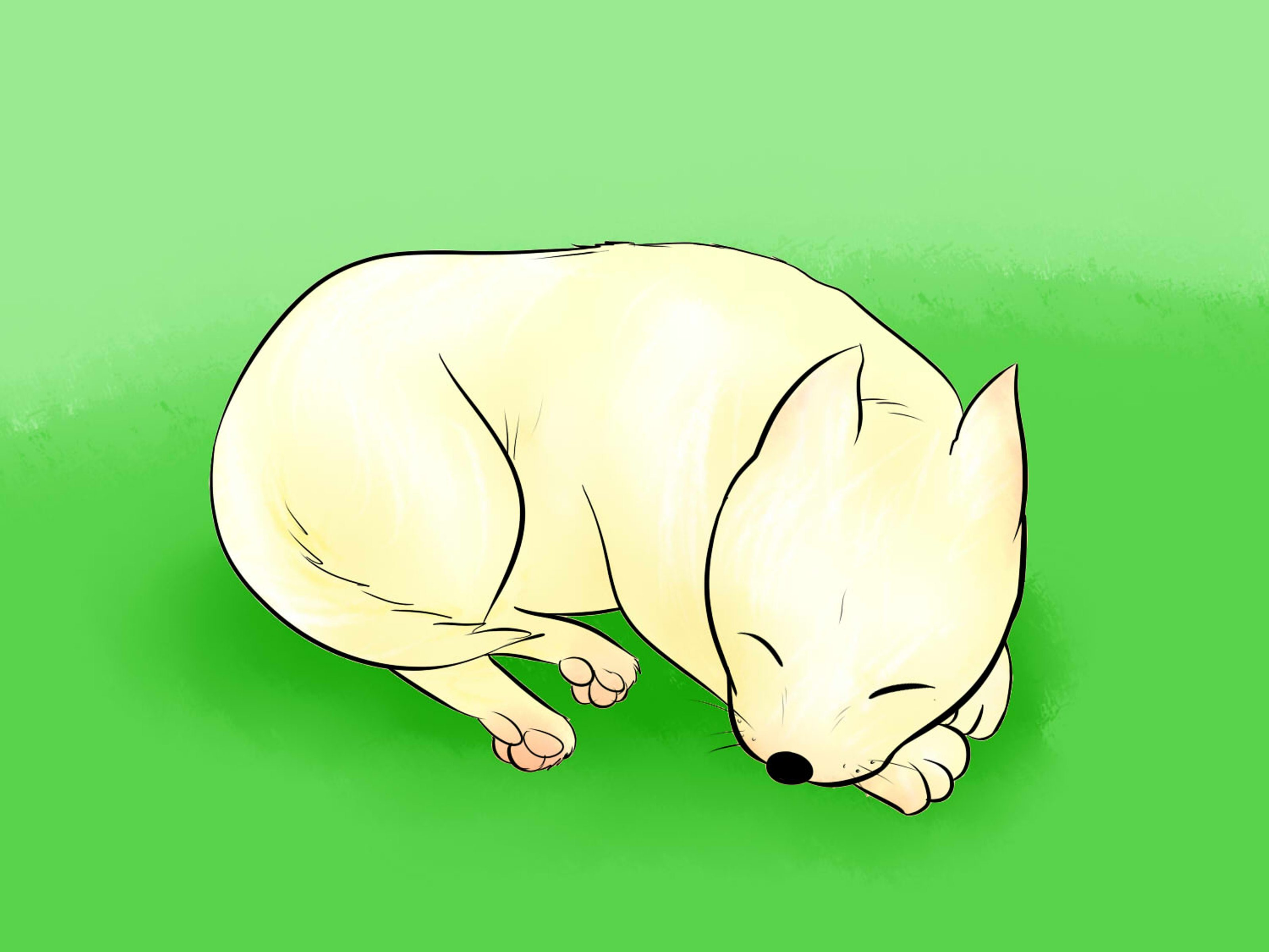 Easy to draw clipart simple running dog.