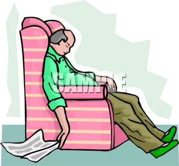 Easy Chair Clip Art.