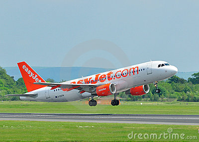 Easyjet Commercial Airliner Editorial Stock Image.