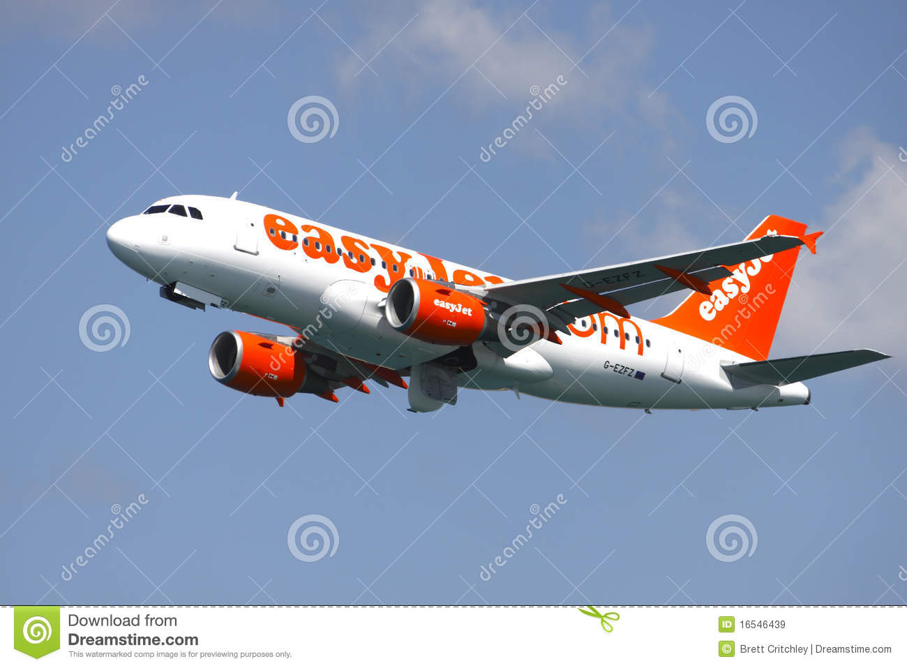 Easyjet Easy Jet Aircraft Editorial Stock Image.
