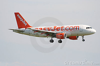 Easyjet Airbus A319 Editorial Image.